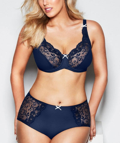 Hickory Katie Maxi Brief - Medieval Blue - Model