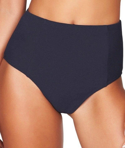 Sea Level Riviera Rib High Waist Brief - Night Sky Navy - Front