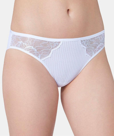 Florale Peony Tai Brief - White - Front