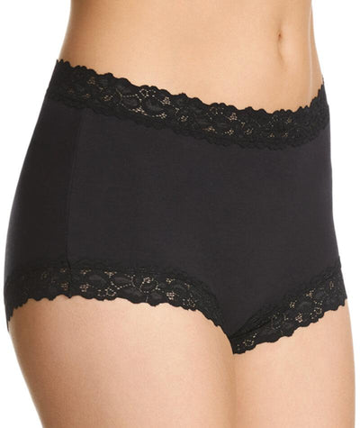 "Jockey Women Parisienne Cotton Full Brief - Black ""Side"""