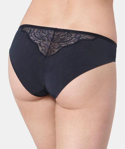 Florale Peony Tai Brief - Black - Back