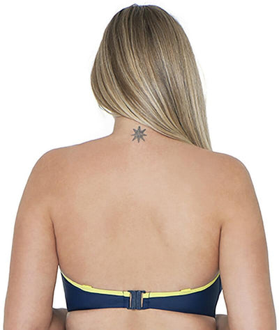 Curvy Kate Maya Bandeau Bikini - Blue Mix - Back