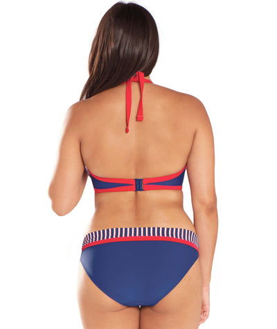 Curvy Kate Ahoy Halterneck Bikini - Nautical Stripe