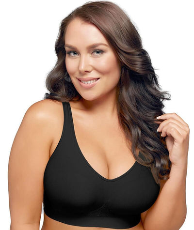 "Playtex Play Comfort Revolution Wire-Free Bra - Black ""Front"""