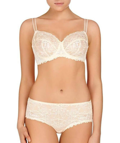 Fayreform Olive Lace Underwire Bra - Pink Champagne/Ivory - Model - Front