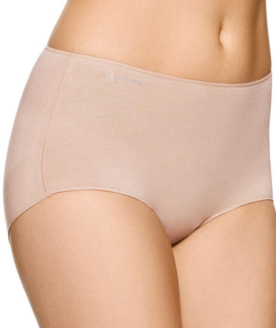 "Jockey No Panty Line Promise  Next Generation Cotton Full Brief - Silk Beige ""Side"""