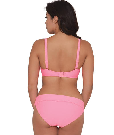 "Curvy Kate Jetty Padded Balcony Bikini Top - Flamingo ""Front"""