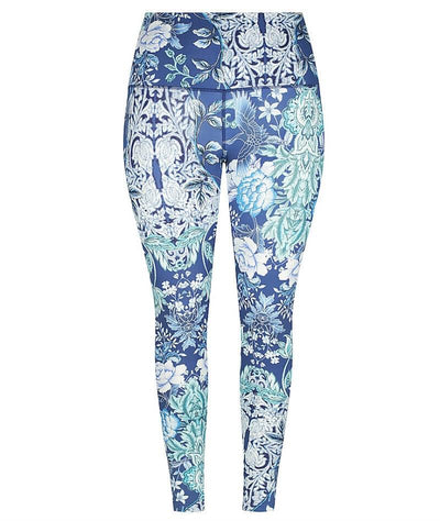 Capriosca High Waisted Basic Legging - Crane Birds
