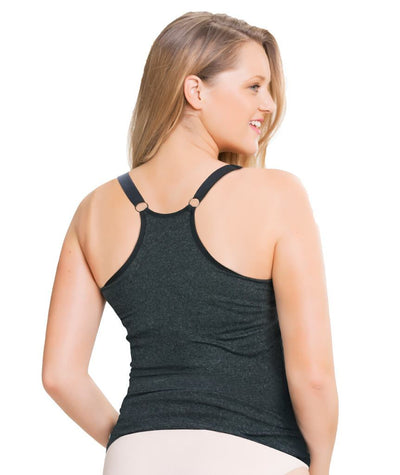 Sugar Candy Fuller Bust Seamless F-HH Cup Lounge Tank - Charcoal