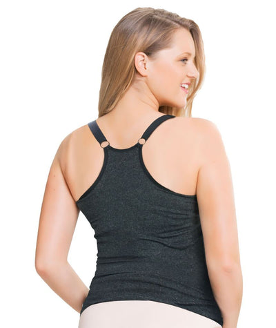 Sugar Candy Fuller Bust Seamless F-HH Cup Nursing Tank - Charcoal