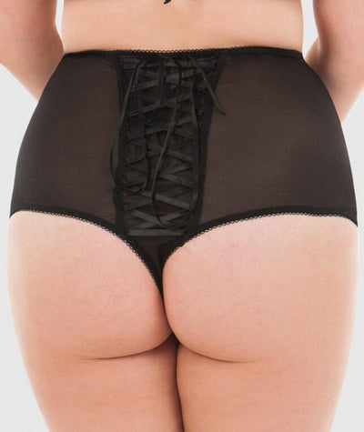 Scantilly Entwine High Waist Thong - Black