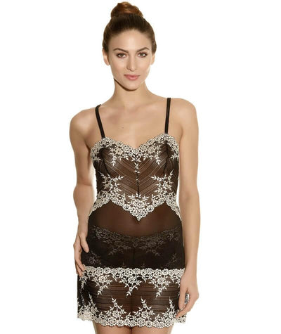 Wacoal Embrace Lace DD-E Cup Chemise Dress - Black - Front