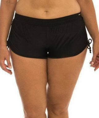 Capriosca Plain Matt Adjustable Side Short - Black - Front