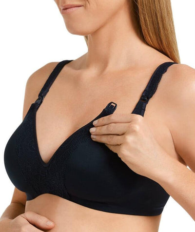 Berlei Barely There Deluxe Maternity Bra - Navy - Side