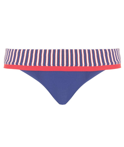 Curvy Kate Ahoy Fold Over Brief - Nautical Stripe