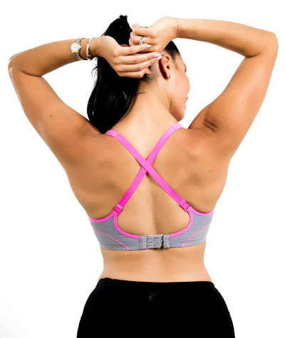 Triumph Triaction Performance Sports Bra - Quicksilver - Back - 4