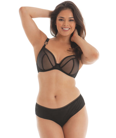 Curvy Kate Lifestyle Plunge Bra - Black - Model - Front