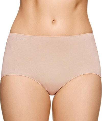 "Jockey No Panty Line Promise  Next Generation Cotton Full Brief - Silk Beige ""Front"""
