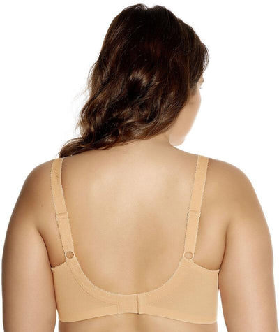 Goddess Keira Underwired Banded Bra - Nude - Back