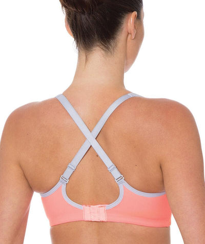 "Triumph Triaction Endurance Smooth Bra - Neon Peach ""Back"""
