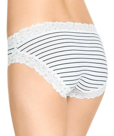 Jockey Parisienne Cotton Bikini Brief - Classic Bretton Stripe - Back