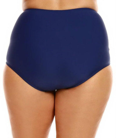 Capriosca High Waist Swim Pant - Navy - Back