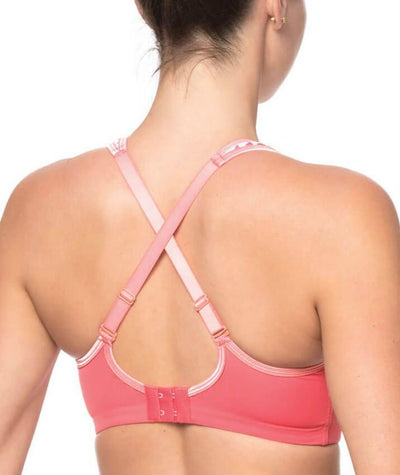 Triumph Triaction Endurance Sports Bra - Nectarine - Crossover - Back