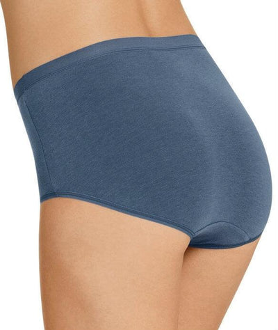 Jockey Everyday Bamboo Full Brief - Magnesium Blue - Back