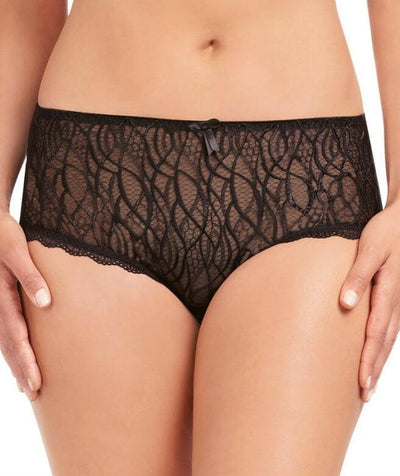 Fayreform Alessia Rose Culotte Brief - Black - Front