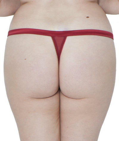 Scantilly Surrender Thong - Red - Back