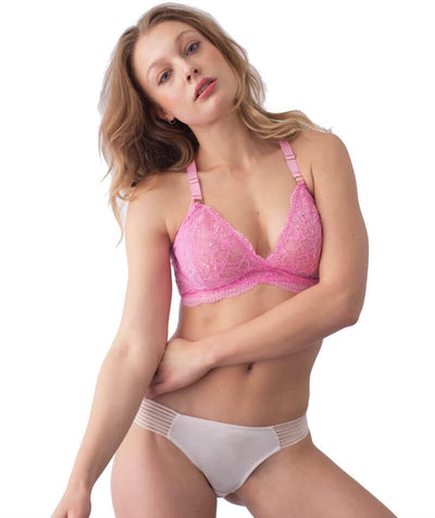hotmilk Project Me Heroine Plunge Bra - Fuschia - Model - Front