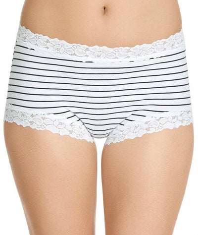 Jockey Parisienne Cotton Full Brief - Classic Bretton Stripe - Front