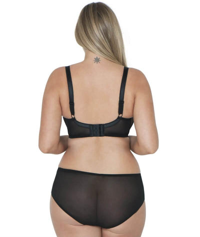 Curvy Kate Tease Padded Balcony Bra - Black/Rose - Model - Back