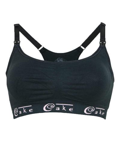 Cake Maternity Cotton Candy Seamless Sleep & Yoga Nursing Bra -  Black