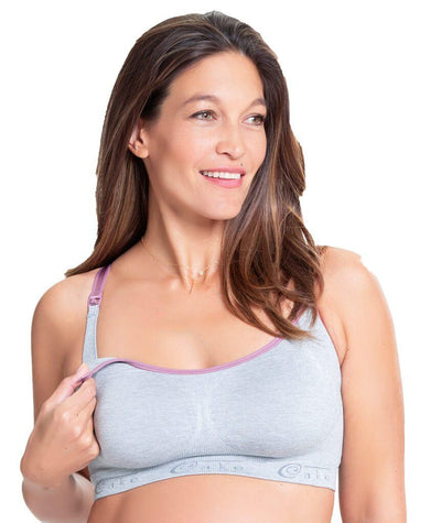 Cake Maternity Cotton Candy Seamless Sleep & Yoga Nursing Bra -  Heather Grey