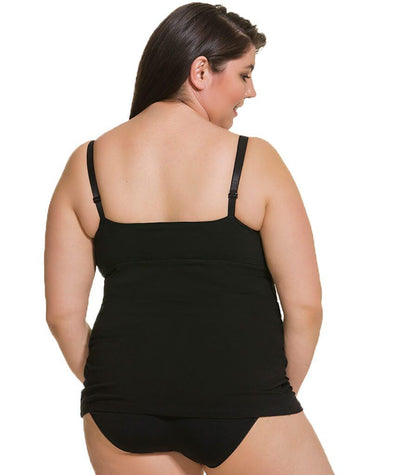Cake Maternity Ice Cream Cotton E-G Cup Nursing Tank -  Black