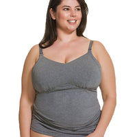 Cake Maternity Ice Cream Cotton E-G Cup Nursing Tank -  Heather Grey