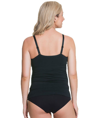 Cake Maternity Toffee Shaping Seamless Nursing Tank -  Black