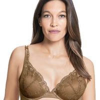 Cake Maternity Truffles Moulded Lace Cup Plunge Nursing Bra -  Nude