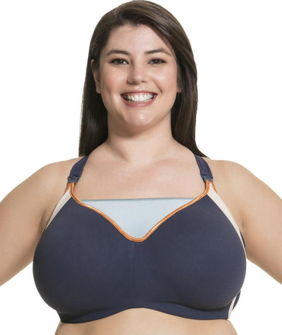 Cake Maternity Zest Flexi Wire High Impact Maternity & Nursing Sports Bra - Navy