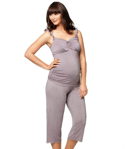 Cake Maternity Apple Crumble Maternity & Nursing Camisole - Grey