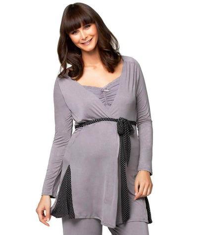 Cake Maternity Apple Crumble Robe - Grey