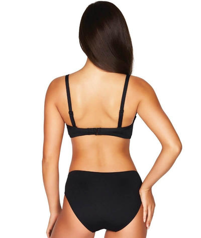 Sea Level Essentials Cross Front Moulded Underwire D-DD Cup Bikini Top - Black - Model - Back - 1