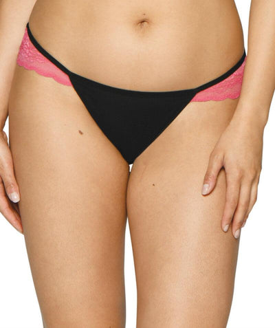 Curvy Kate In Love With Lace Brazilian Brief - Black/Pink