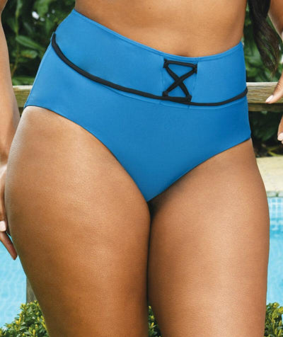 Curvy Kate Rock The Pool High Waist Brief - Petrol Blue