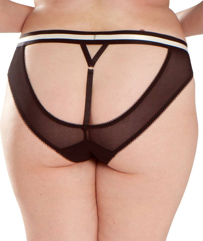 Scantilly Decadence Bare Faced Brief - Monochrome