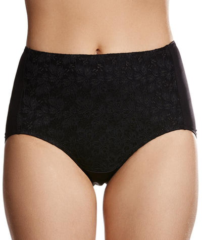"Jockey No Ride Up Microfibre and Lace Full Brief - Black ""Front"""