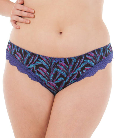 Curvy Kate Tropics Brazillian Brief - Iris Print