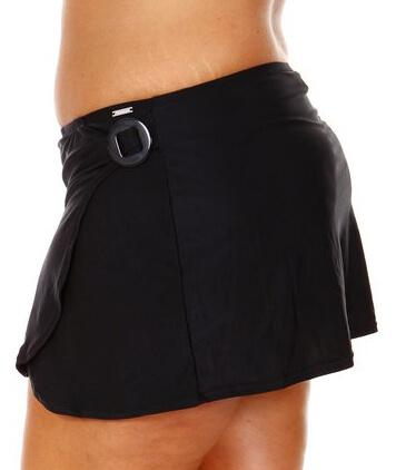 Capriosca Plain Matt Skirt with Ring - Back