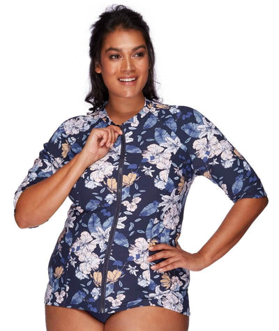 Artesands Sunsafe Short Sleeve Top - Blossom Assemblage - Front